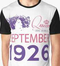 It's My Birthday 92. Made In September 1926. 1926 Gift Ideas. Graphic T-Shirt