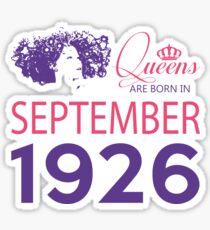It's My Birthday 92. Made In September 1926. 1926 Gift Ideas. Sticker