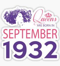 It's My Birthday 86. Made In September 1932. 1932 Gift Ideas. Sticker