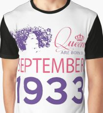 It's My Birthday 85. Made In September 1933. 1933 Gift Ideas. Graphic T-Shirt