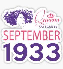 It's My Birthday 85. Made In September 1933. 1933 Gift Ideas. Sticker