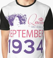 It's My Birthday 84. Made In September 1934. 1934 Gift Ideas. Graphic T-Shirt