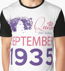 It's My Birthday 83. Made In September 1935. 1935 Gift Ideas. Graphic T-Shirt