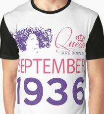 It's My Birthday 82. Made In September 1936. 1936 Gift Ideas. Graphic T-Shirt