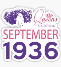 It's My Birthday 82. Made In September 1936. 1936 Gift Ideas. Sticker