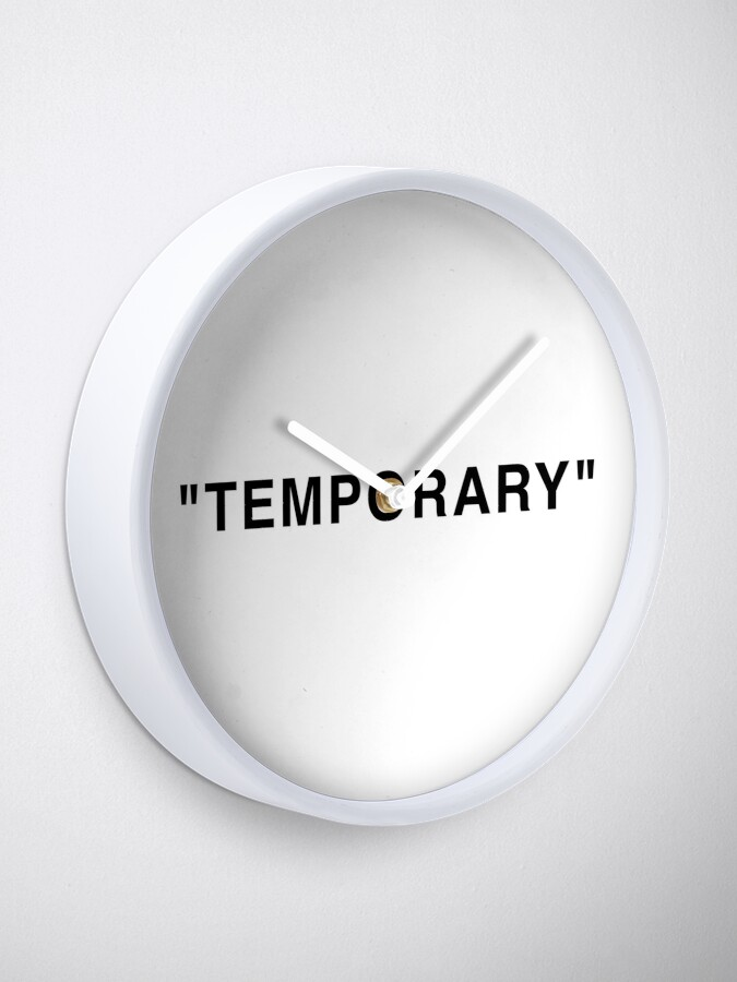 "Alternate view of ""Temporary"" Quotation Marks Clock"