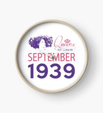 It's My Birthday 79. Made In September 1939. 1939 Gift Ideas. Clock