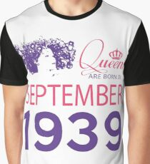 It's My Birthday 79. Made In September 1939. 1939 Gift Ideas. Graphic T-Shirt