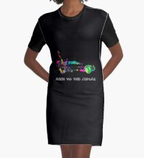 Delorean colors. Graphic T-Shirt Dress