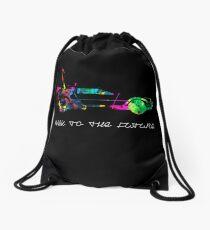 Delorean colors. Drawstring Bag