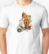 Camiseta unisex Scooter Girl Aloha