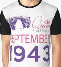 It's My Birthday 75. Made In September 1943. 1943 Gift Ideas. Graphic T-Shirt