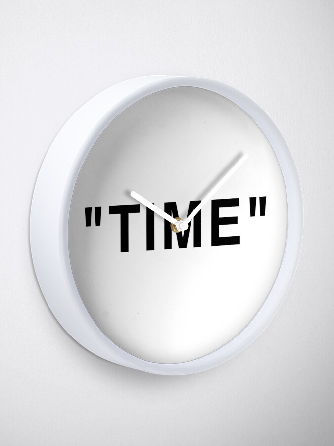 """Alternate view of """"Time"""" Quotation Marks Clock"""