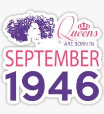 It's My Birthday 72. Made In September 1946. 1946 Gift Ideas. Sticker