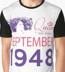 It's My Birthday 70. Made In September 1948. 1948 Gift Ideas. Graphic T-Shirt
