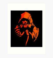 Toxic Crow (orange) Art Print