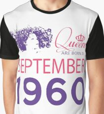 It's My Birthday 58. Made In September 1960. 1960 Gift Ideas. Graphic T-Shirt