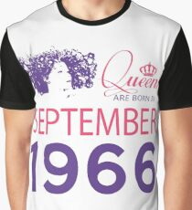 It's My Birthday 52. Made In September 1966. 1966 Gift Ideas. Graphic T-Shirt