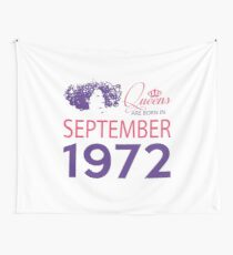 It's My Birthday 46. Made In September 1972. 1972 Gift Ideas. Wall Tapestry