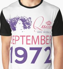 It's My Birthday 46. Made In September 1972. 1972 Gift Ideas. Graphic T-Shirt