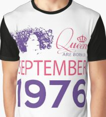 It's My Birthday 42. Made In September 1976. 1976 Gift Ideas. Graphic T-Shirt