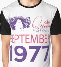 It's My Birthday 41. Made In September 1977. 1977 Gift Ideas. Graphic T-Shirt