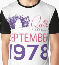 It's My Birthday 40. Made In September 1978. 1978 Gift Ideas. Graphic T-Shirt