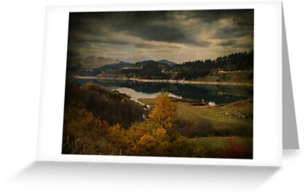 Lac et Barrage de Roselend, Savoie, France  by Bob Culshaw