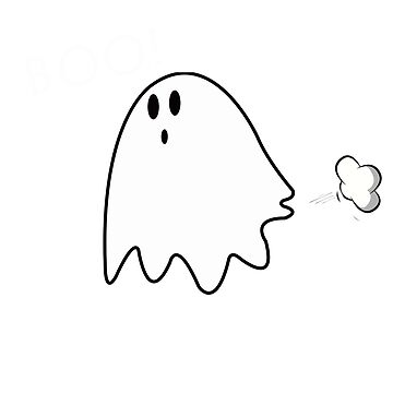 Ghost halloween fart cute by Collagedream