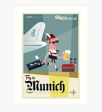 Flieg nach ... München Reiseplakat Kunstdruck