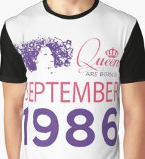 It's My Birthday 32. Made In September 1986. 1986 Gift Ideas. Graphic T-Shirt