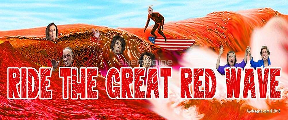 Ride The Great Red Wave by ayemagine