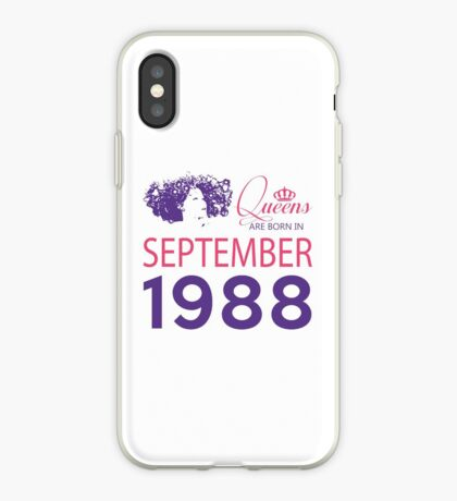 It's My Birthday 30. Made In September 1988. 1988 Gift Ideas. iPhone Case