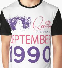It's My Birthday 28. Made In September 1990. 1990 Gift Ideas. Graphic T-Shirt