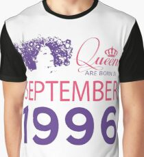 It's My Birthday 22. Made In September 1996. 1996 Gift Ideas. Graphic T-Shirt