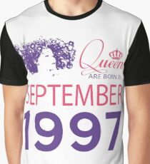 It's My Birthday 21. Made In September 1997. 1997 Gift Ideas. Graphic T-Shirt