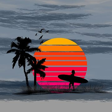 Beach Surfing Life by design4tees