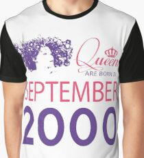 It's My Birthday 18. Made In September 2000. 2000 Gift Ideas. Graphic T-Shirt