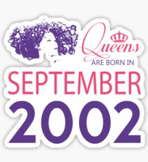 It's My Birthday 16. Made In September 2002. 2002 Gift Ideas. Sticker