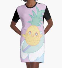 Pineapple Surfer Graphic T-Shirt Dress