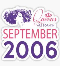 It's My Birthday 12. Made In September 2006. 2006 Gift Ideas. Sticker