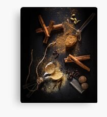 Pumpkin Spice Ingredients - Food Style Photography Canvas Print
