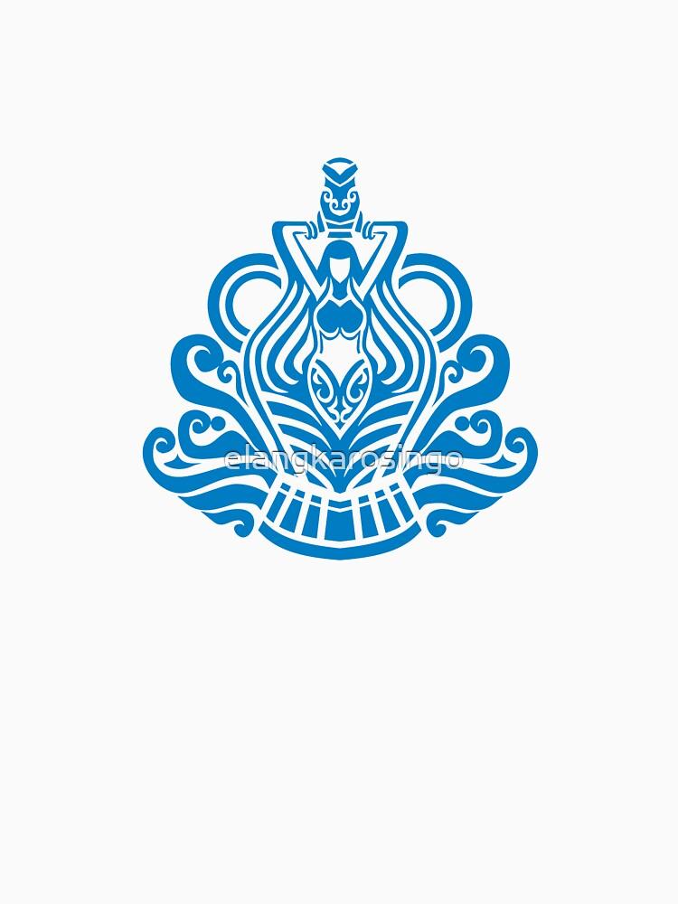 Zodiac Sign Aquarius Blue by elangkarosingo