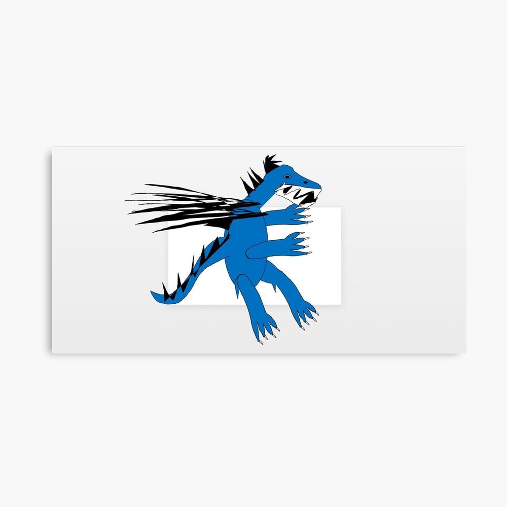 Kleiner blauer Drache Leinwanddruck