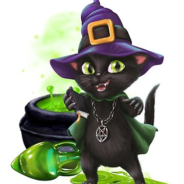 The Witches Naughty Cat by LoneAngel