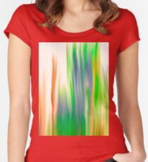 The Beautiful Veil Oil Painting Abstract Women's Fitted Scoop T-Shirt