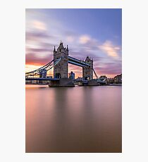 Tower Bridge Sunset Photographic Print