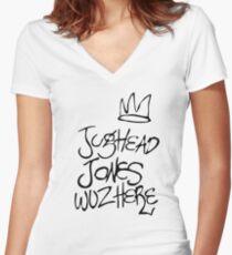 Jughead Jones Wuz Hier Tailliertes T-Shirt mit V-Ausschnitt