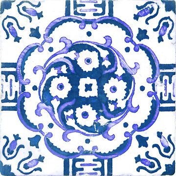 Blue Portugal tile pattern by creaschon
