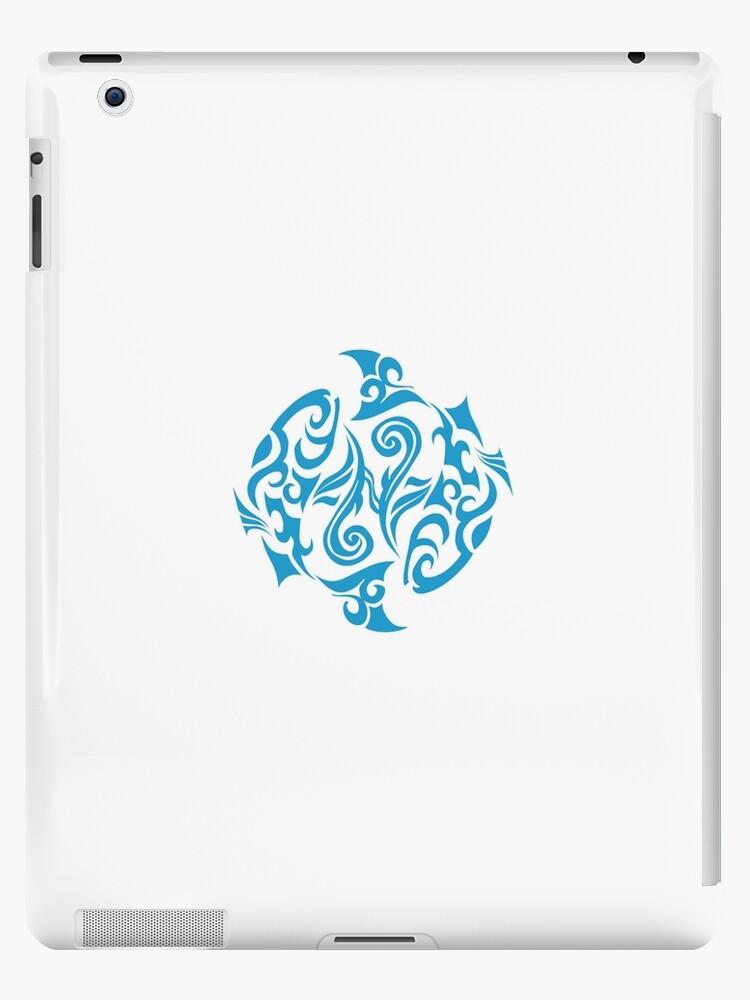 Zodiac Sign Pisces Blue by elangkarosingo